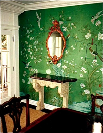 Emerald city mrs blandings for Emerald city wall mural